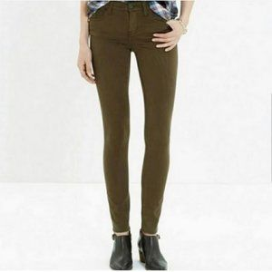 Madewell Olive Green Skinny Jeans 29